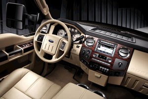 Ford Super Duty Lariat interior