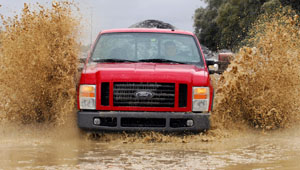 Ford Super Duty in the mud bog