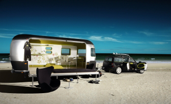 Surfer's paradise: a beachside Airstream and Mini Cooper Clubman